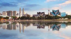 在Titiwangsa公园的吉隆坡,马来西亚地平线 免版税库存照片