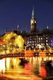 在Tivoli的圣诞节在哥本哈根 库存图片