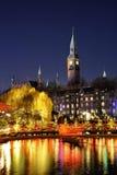 在Tivoli的圣诞节在哥本哈根 免版税库存照片