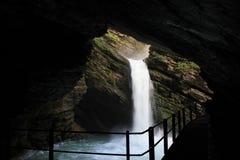 在Toggenburg谷的瀑布 免版税库存图片