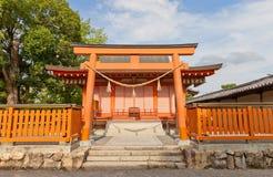 在Toji寺庙的Hachiman顾神道圣地在京都,日本 库存图片
