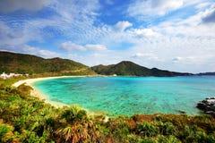 Aharen海滩在冲绳岛 免版税库存图片