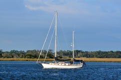 在Tolomoto河的风船 免版税库存照片