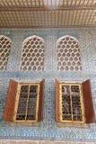 在Topkapi宫殿的美丽的装饰,伊斯坦布尔,土耳其 免版税库存图片