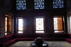 在Topkapi宫殿的美丽的装饰,伊斯坦布尔,土耳其 库存图片