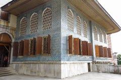 在Topkapi宫殿的美丽的装饰,伊斯坦布尔,土耳其 免版税库存照片