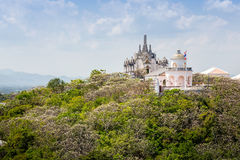 在topof山, Phra洛坤Kh建筑细节的寺庙  免版税库存照片