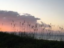 在Topsail海岛NC上的日出 免版税图库摄影