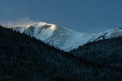 在Torreys峰顶的日出 库存图片