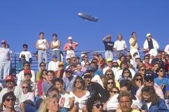 在Toyota Grand Prix Indy汽车世界的人群 图库摄影