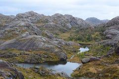 在Trollpikken附近的风景 Eigersund自治市 罗加兰县 挪威 库存照片