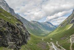 在Trollstigen的旅行挪威 免版税图库摄影
