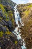 在Trollstigen路,挪威的Stigfossen瀑布 免版税库存照片