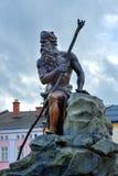 在Trutnov镇中心的雕象 库存图片