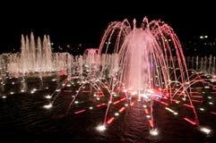 在Tsaritsino的晚上喷泉 免版税图库摄影