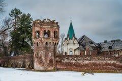 在Tsarskoe selo,普希金,圣彼得堡的一座老城堡 免版税库存图片