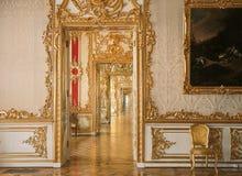 在Tsarskoye Selo普希金的门透视 库存照片