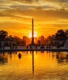 在Tuileries庭院的日落,巴黎 库存图片