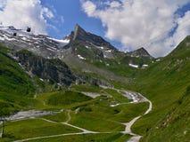 在Tuxer Joch的奥地利阿尔卑斯外型 免版税库存图片