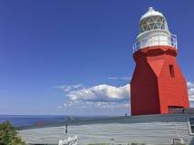 在Twillingate,纽芬兰的长的点灯塔 库存照片