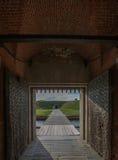 在Tybee海岛附近的堡垒Pulaski 库存照片