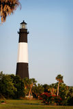 在Tybee海滩的著名灯塔在大草原,乔治亚附近 库存照片