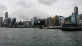 在tyfoon前的香港cilence 库存照片