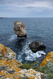 在Tyulenovo村庄,保加利亚附近的海景 免版税库存照片