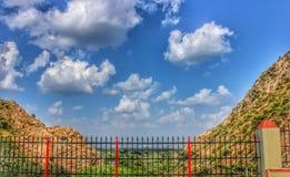 在udaipur城市的云彩 免版税库存照片
