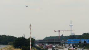 在UFO附近的直升机翱翔 影视素材