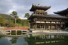 在Uji的Byodoin寺庙,京都,日本 图库摄影