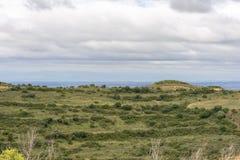 在Ujue附近的风景 库存图片