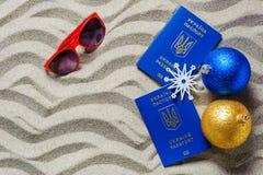 在UkraineCopy空间的圣诞节假日 免版税库存图片