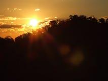 在Undara的日落 库存照片