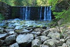在Upa河的瀑布 库存图片