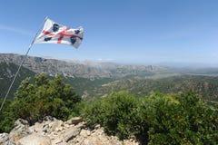 在Urzulei附近的谷在撒丁岛的海岛上 免版税库存照片