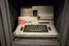 在USS普埃夫洛AGER-2板的一个密码设备  平壤, DPRK -北朝鲜 免版税图库摄影