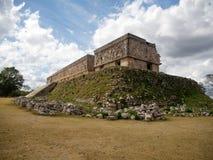 在Uxmal,墨西哥的宫殿废墟 免版税库存照片