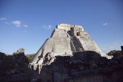 在uxmal,墨西哥的玛雅废墟 免版税图库摄影