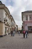 在Uzhgorod上街道  免版税库存图片