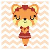 狐狸色中国片_逗人喜爱的五颜六色的女孩狐狸传染媒介动画片例证