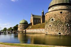 在Vadstena,瑞典防御,从新生时代 免版税库存图片