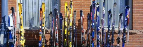 在Vail的滑雪 库存照片