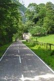 在Val Brembana的循环运输路线 库存图片