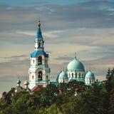 在Valaam海岛上的修道院 免版税库存照片