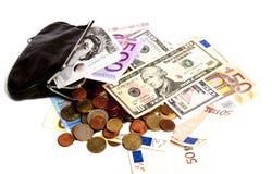 在valuta之下的压 免版税库存图片