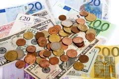 在valuta之下的压 库存图片