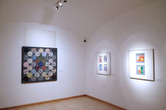 在Vasarely博物馆的艺术品在佩奇匈牙利 库存照片