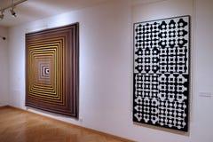 在Vasarely博物馆的艺术品在佩奇匈牙利 库存图片