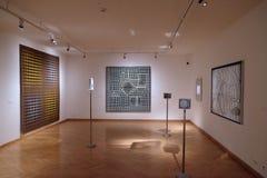 在Vasarely博物馆的艺术品在佩奇匈牙利 图库摄影